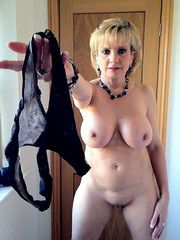 Sexual old woman removed her panties