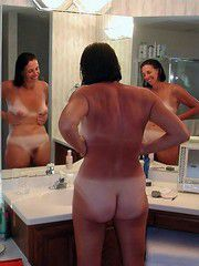 Tanned an nude grandmother posing for her husband, real amateur sexual images