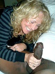 The old woman gets her first BBC, interracial big cock cuckold porn