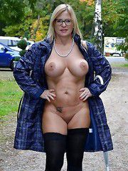 The naked goddess with a round and firm breasts, mature exhibitionists naked