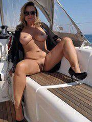 Irish swingers on a yacht, luxury lady exposes pussy, watch and enjoy