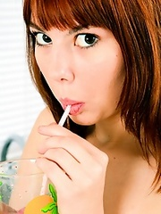 Sweetmeats sucking teen woman strokes..