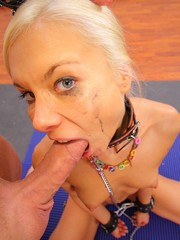 Naughty blonde gets roughed up and..
