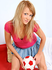 Gorgeous Karine teasingly exposing her..