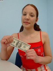Teen pays money for her first anal sex