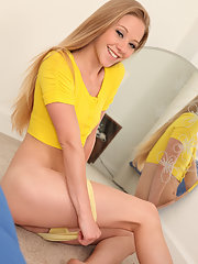 Nubile babe Sydney Cross in a yellow..
