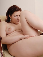 Hot chubby rookie plays with a little..