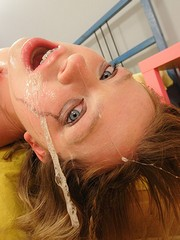 Teen swallows dick till she is messed..