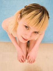 Sweet blonde teen gets a good throat..