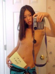 Skinny naked Japanese with small tits..