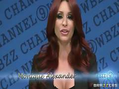 Monique Alexander News Reporter Fucked Live