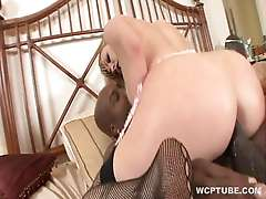 Blonde housewife dreams of black cock