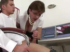 Mature femdom suck and tug Watch hot mature british Gill Ellis-Young suck and tug cock