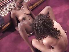 Sexy black bitch fucking her white girl