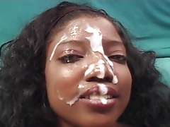 Nikki Sinclaire: ebony blowjob and facial