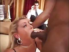 Milf Chelsea Zinn cucks a black dick while husband watches
