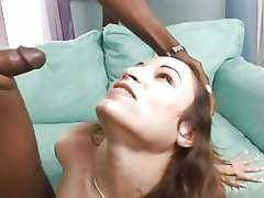 Amber Rayne gets her face drenched with thick cum
