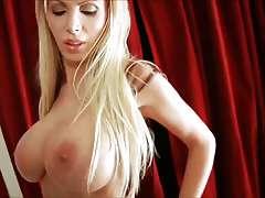 Hot Nikki Benz in dress Room