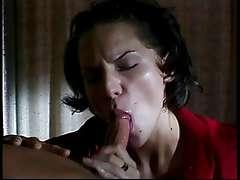 Brunette babe KItti Kat sucking off Jay Ashley