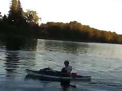 Flashing 2 woman at the lake