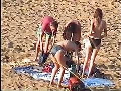 Cambiandose en la playa