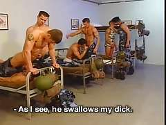 Hard military training