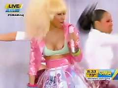Nicki Minaj slips nip during the daytime TV performance