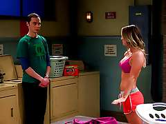 Kaley Cuoco - Penny in Big Bang Theory - Laundry Night
