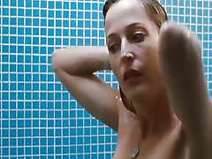 Gillian Anderson naked in the shower