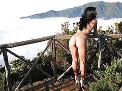 Sapphira - Madeira Island naked photo shoot