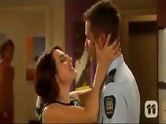 Travis Burns kissing scene