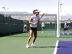Ana Ivanovic hot short in training