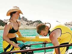 Dina Meyer and Elizabeth Shue - Piranha 3D