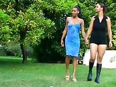 Black Lesbians Fuck In The Garden