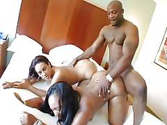 Lexi and Victoria Allure FFM black threesome