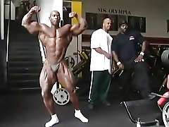 Black strongman Flex Wheeler  posing (no nudity)