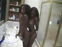 Beautiful young ebony Lesbians