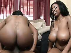 Bouncy Black Girls Riding On Dick In A..