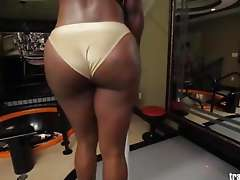 Big Booty Black Tranny Strokes Her Huge Cock for You Big Booty Black Tranny Strokes Her Huge Cock for You