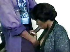 Ebony woman does blow job, vintage xxx..