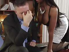 Angel from an obstacle ghetto with the addition of an obstacle businessman Black porn