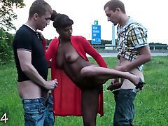 Cute teen girl PUBLIC gangbang shafting Attaching 4