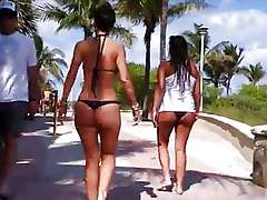 Stalking morose ebony lace-work bikini OMG!! - Ameman