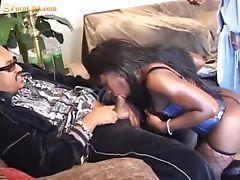 Ebony Busty Babe. Double dicked.