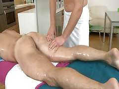 Erotyc male massage, ejaculation for twink