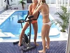 Blond teens Tara and Yasmin have dildo fun Angelic blonde lesbian teen babes Tara and Yasmin..