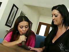 Mothers Teaching Daughters How To Suck Big Black Cock