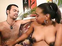 Preggo Ebony Tit Tease