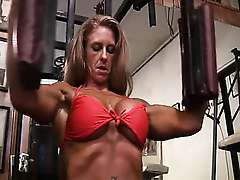 Female Muscle Heather Payne Works Out Part 4