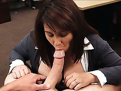 Big tits Milf selling her husbands old coins to raised money